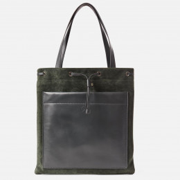Lola - Green Nappa and Split Leather