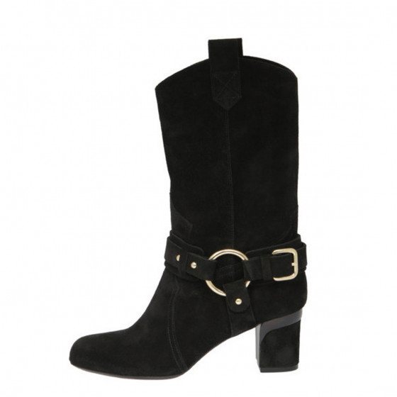Julie Split Suede Black